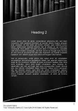 Black Bamboo Word Template Second Inner Page