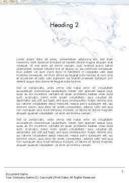 Orange Splash in Water Word Template, Second Inner Page, 11407, Food & Beverage — PoweredTemplate.com