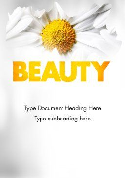Beauty Theme Word Template Cover Page