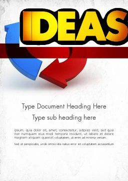 Working Ideas Word Template, Cover Page, 11411, Business Concepts — PoweredTemplate.com