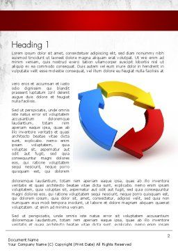 Working Ideas Word Template, First Inner Page, 11411, Business Concepts — PoweredTemplate.com