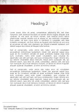 Working Ideas Word Template, Second Inner Page, 11411, Business Concepts — PoweredTemplate.com