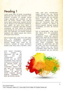 Colorful Watercolor Stains Word Template First Inner Page