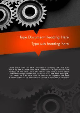 Working Wheels Word Template, Cover Page, 11416, Construction — PoweredTemplate.com