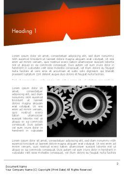 Working Wheels Word Template, First Inner Page, 11416, Construction — PoweredTemplate.com