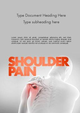 Shoulder Disorders Word Template, Cover Page, 11418, Medical — PoweredTemplate.com