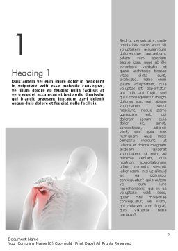 Shoulder Disorders Word Template, First Inner Page, 11418, Medical — PoweredTemplate.com