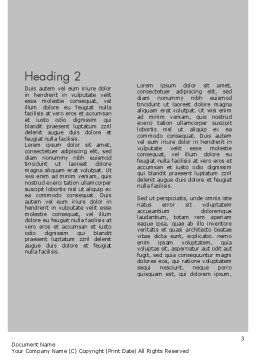 Shoulder Disorders Word Template, Second Inner Page, 11418, Medical — PoweredTemplate.com