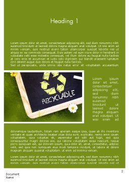 Waste Management Word Template, First Inner Page, 11419, Nature & Environment — PoweredTemplate.com