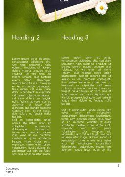 Waste Management Word Template, Second Inner Page, 11419, Nature & Environment — PoweredTemplate.com