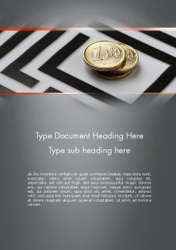 Money in Maze Word Template, Cover Page, 11420, Financial/Accounting — PoweredTemplate.com