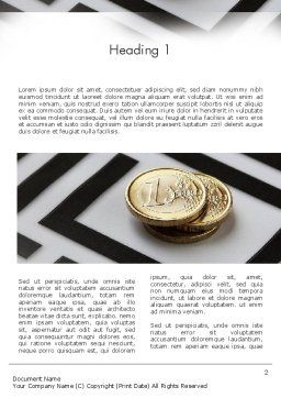 Money in Maze Word Template, First Inner Page, 11420, Financial/Accounting — PoweredTemplate.com