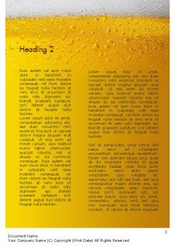 Beer Theme Word Template, Second Inner Page, 11422, Food & Beverage — PoweredTemplate.com