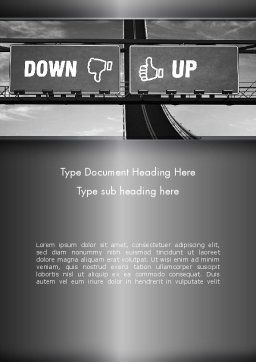 Up and Down Highway Signs Word Template, Cover Page, 11423, Business Concepts — PoweredTemplate.com