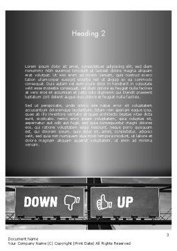 Up and Down Highway Signs Word Template, Second Inner Page, 11423, Business Concepts — PoweredTemplate.com