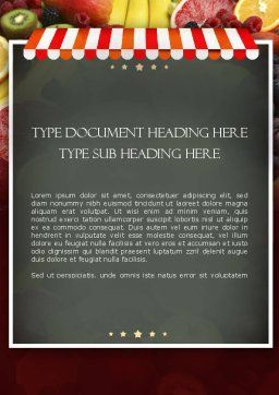 Grocery Store Word Template, Cover Page, 11424, Careers/Industry — PoweredTemplate.com