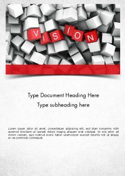 Vision Word Template, Cover Page, 11427, Business Concepts — PoweredTemplate.com