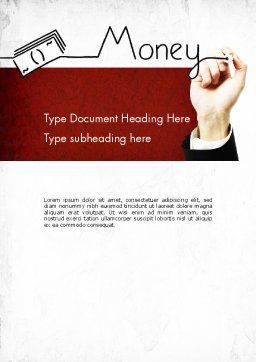 Money Presentation Word Template, Cover Page, 11429, Financial/Accounting — PoweredTemplate.com