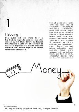 Money Presentation Word Template, First Inner Page, 11429, Financial/Accounting — PoweredTemplate.com