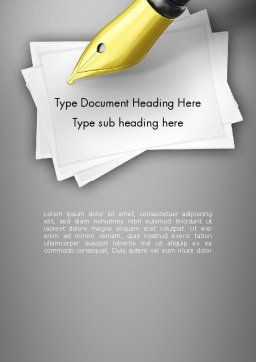 Inkpen Word Template, Cover Page, 11430, Business Concepts — PoweredTemplate.com