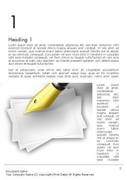 Inkpen Word Template, First Inner Page, 11430, Business Concepts — PoweredTemplate.com
