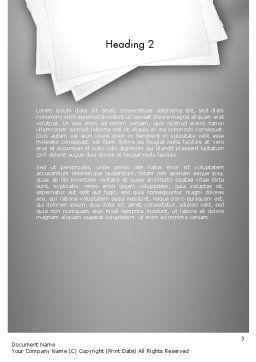 Inkpen Word Template, Second Inner Page, 11430, Business Concepts — PoweredTemplate.com