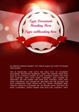 Special Occasion Background Word Template, Cover Page, 11432, Holiday/Special Occasion — PoweredTemplate.com