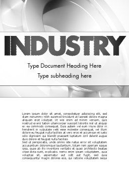 Heavy Industry Word Template, Cover Page, 11433, Utilities/Industrial — PoweredTemplate.com