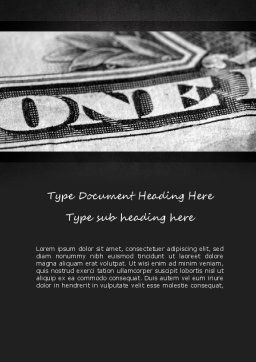 One Dollar Word Template, Cover Page, 11439, Financial/Accounting — PoweredTemplate.com