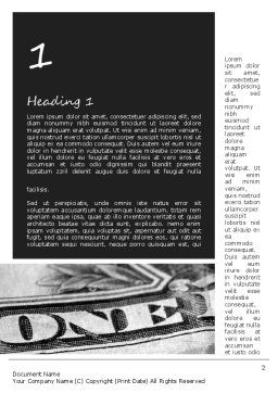 One Dollar Word Template, First Inner Page, 11439, Financial/Accounting — PoweredTemplate.com