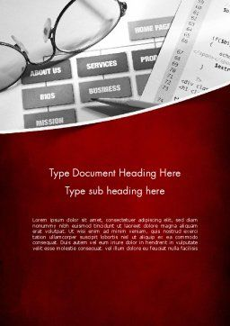 Website Planning Word Template, Cover Page, 11442, Technology, Science & Computers — PoweredTemplate.com