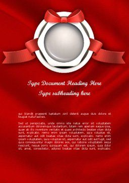 Celebratory Word Template, Cover Page, 11443, Holiday/Special Occasion — PoweredTemplate.com
