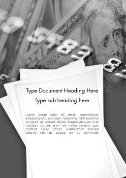 Credit Card Debt Word Template, Cover Page, 11449, Financial/Accounting — PoweredTemplate.com