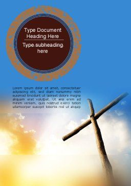 Sunrise Cross Theme Word Template Cover Page
