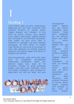 Columbus Day Theme Word Template, First Inner Page, 11452, Holiday/Special Occasion — PoweredTemplate.com