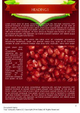 Pomegranate Seeds Word Template, First Inner Page, 11454, Food & Beverage — PoweredTemplate.com