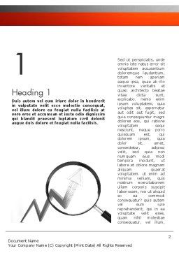Trends Analysis Word Template, First Inner Page, 11455, Financial/Accounting — PoweredTemplate.com