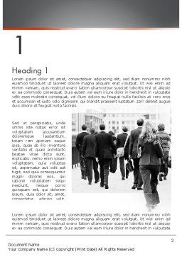 People Walking To Work Word Template First Inner Page