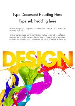 Color Paint Splash Word Template Cover Page