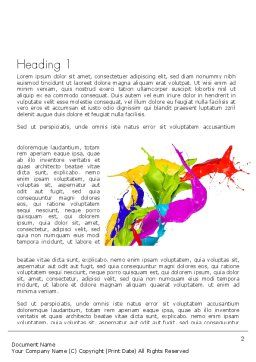 Color Paint Splash Word Template First Inner Page