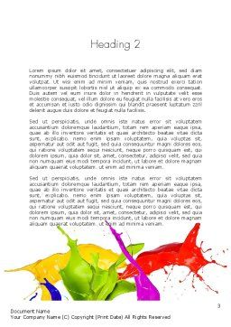 Color Paint Splash Word Template Second Inner Page
