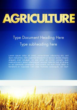 Agricultural Land Word Template Cover Page