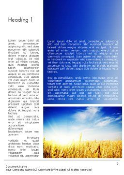Agricultural Land Word Template First Inner Page