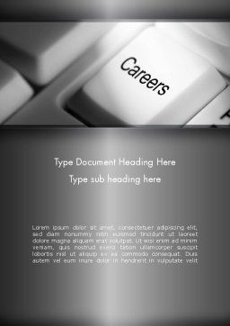 Careers Button Word Template, Cover Page, 11462, Careers/Industry — PoweredTemplate.com