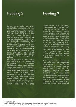Spinach Word Template, Second Inner Page, 11463, Food & Beverage — PoweredTemplate.com