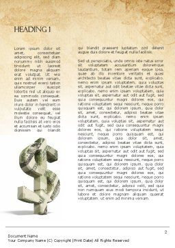 Dollar Sign Word Template First Inner Page
