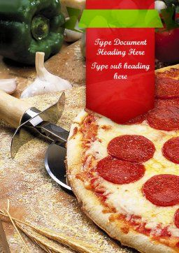 Italian Pizza Word Template, Cover Page, 11465, Food & Beverage — PoweredTemplate.com
