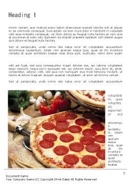 Italian Pizza Word Template, First Inner Page, 11465, Food & Beverage — PoweredTemplate.com