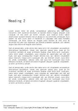 Italian Pizza Word Template, Second Inner Page, 11465, Food & Beverage — PoweredTemplate.com