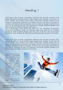 Roller Skate Freestyle Word Template, First Inner Page, 11469, Sports — PoweredTemplate.com